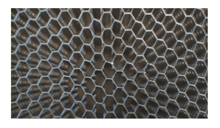 "' Video ""Macro perforated honeycomb"" '"